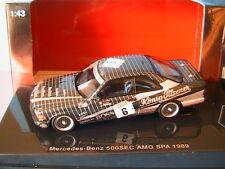 MERCEDES BENZ 500 SEC #6 W126 AMG SPA 1989 KONIG PILSENER AUTOART 68932 1/43
