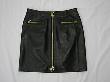 Edition by Express Soft Genuine Leather Zip Mini Skirt Size 4