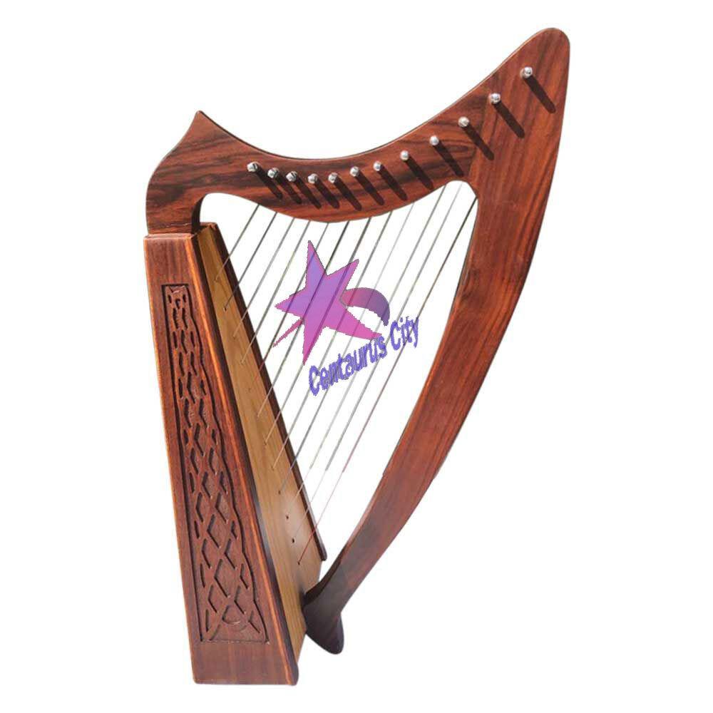 Cc Brandneu 12 Saiten Palisanderholz Irisch Mundharmonika, Gratis Tragetasche &