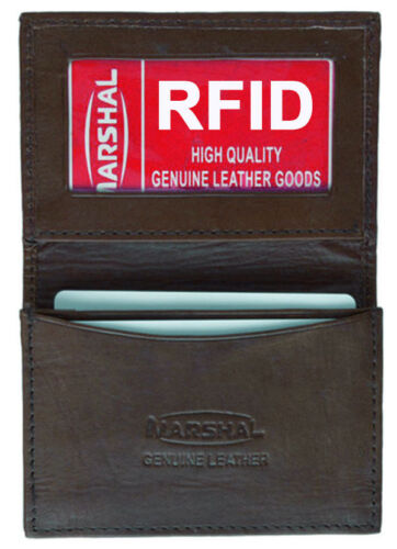 RFID Blocking Leather Men/'s Wallet Expandable Pocket Credit Card ID Holder New