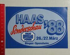 Aufkleber/Sticker: Haas Sonderschau 1988 Volvo Power Bingen Sponsheim (1811161)