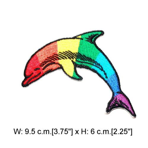 Colorful mer animal marin Rainbow Fish bricolage enfants Vêtements Sac à dos iron on patch