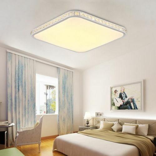 LED Deckenlampe Quadrat voll dimmbar mit Fernbedienung