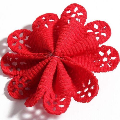 Têtes Artificielle Tissu Fleurs Accessoires Avec Perle Pour Bébé Bandeaux 30pcs