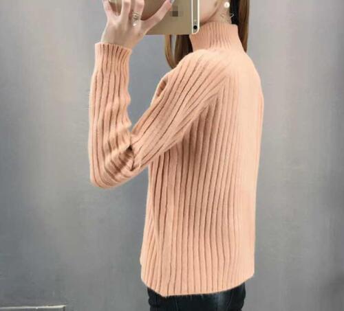 Women/'s Sweaters Turtleneck Pullover Loose Winter Warm Tops Knited Sweater Ske15