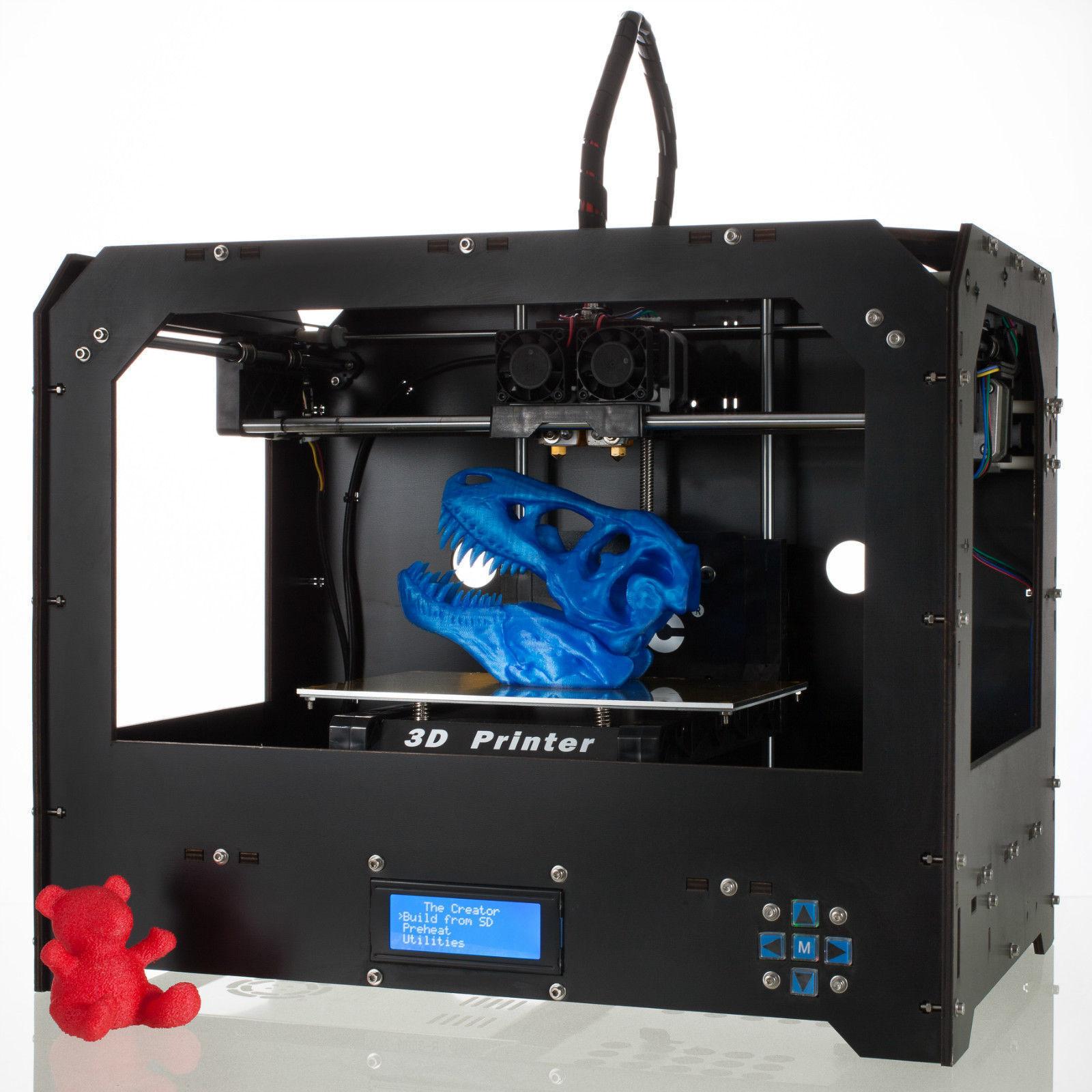 Black 3d Printer for Makerbot Replicator 2 Dual Extruders 1 PLA Filament