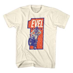 OFFICIAL-Evel-Knievel-Vintage-Stunt-Biker-1-Men-039-s-T-Shirt-Motorcycle-Rider