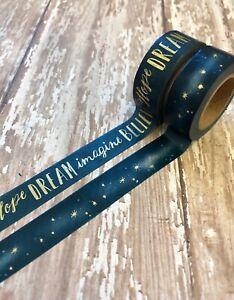 2-Rolls-Inspirational-Stars-Dream-Washi-Tape-Decorative-Planner-Papercraft-Bujo