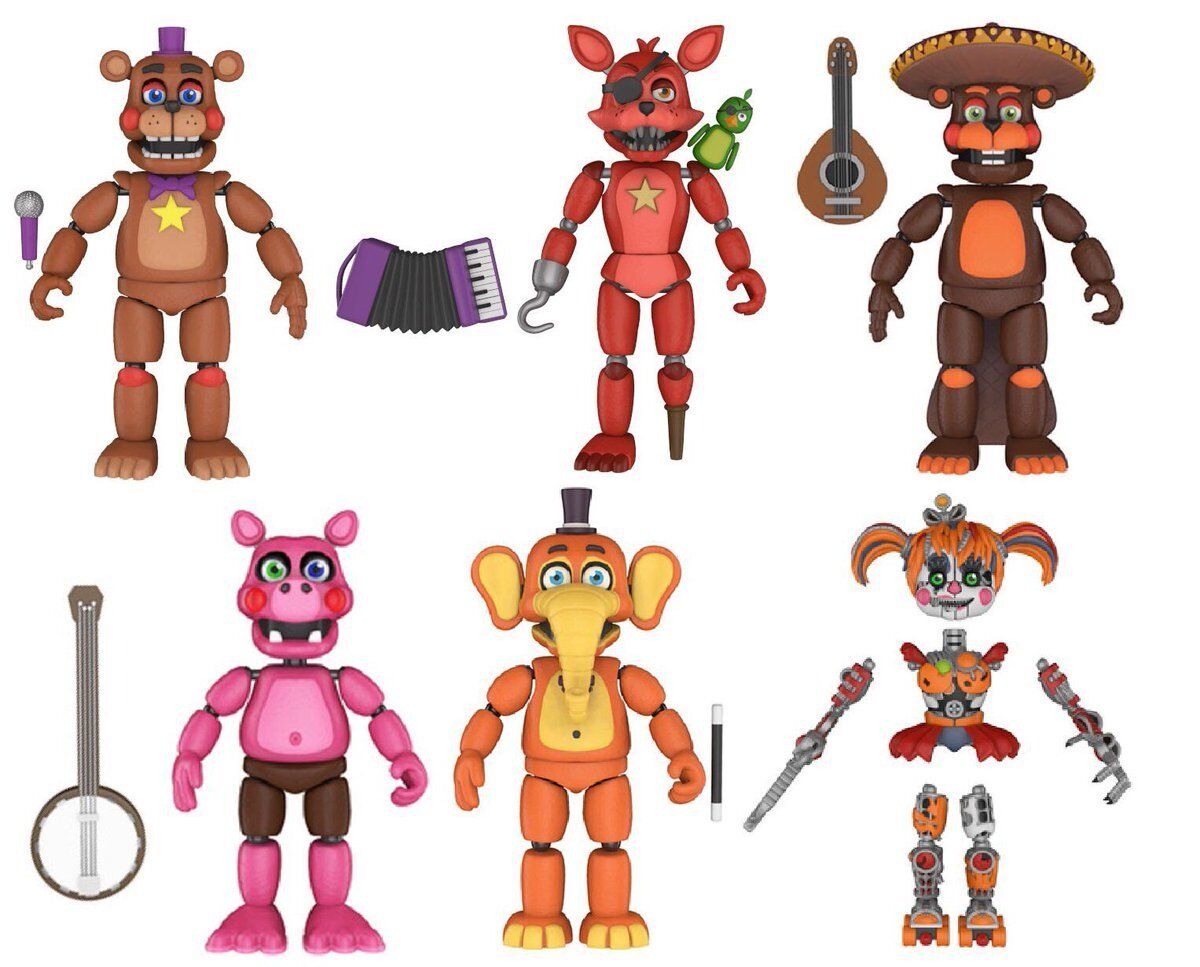 Five Nights At Frossody's PIZZA SIMULATOR Figure Set ALL FIVE NEW 2018 Edition
