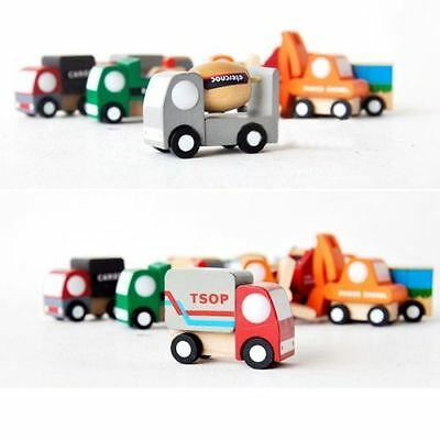 1pcs Fashion Mini Vehicle Car Wooden Educational Toys For Baby Kid Children Gift