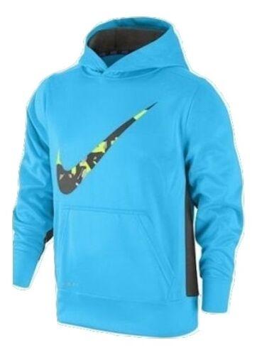 Nike Boy/'s Small KO 3.0 Swoosh OTH Pullover Hoodie Aqua 823898 407 Nwt $45