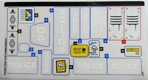LEGO® City Polizei Aufkleber Sticker für 60174 ...