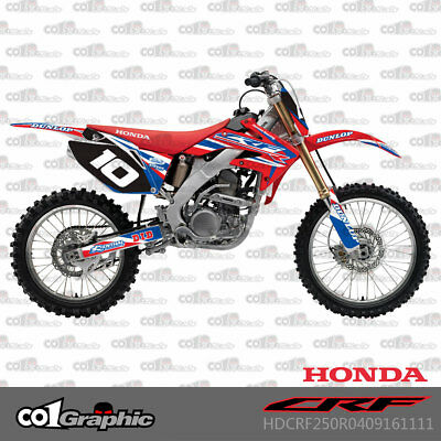 2004-2009 For Honda CRF250 CRF250R Pro Background Graphics Kit Decals Stickers