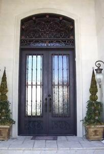 Image Is Loading Hand Crafted 12 Gauge Wrought Iron Entry Door