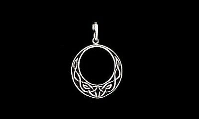 Celtic Moon Pendant ~Sterling Silver