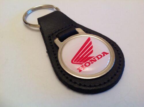 HONDA Quality Black Real Leather Keyring  JAZZ INSIGHT CIVIC ACCORD CR Z V