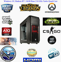 AMD Quad Core Gaming Computer  PC 3.9 GHz Turbo 1TB Hard Drive 16GB RAM FAST
