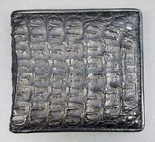 Genuine Crocodile Leather Real Alligator Skin Men Bifold Wallet Purse Exotic Bag