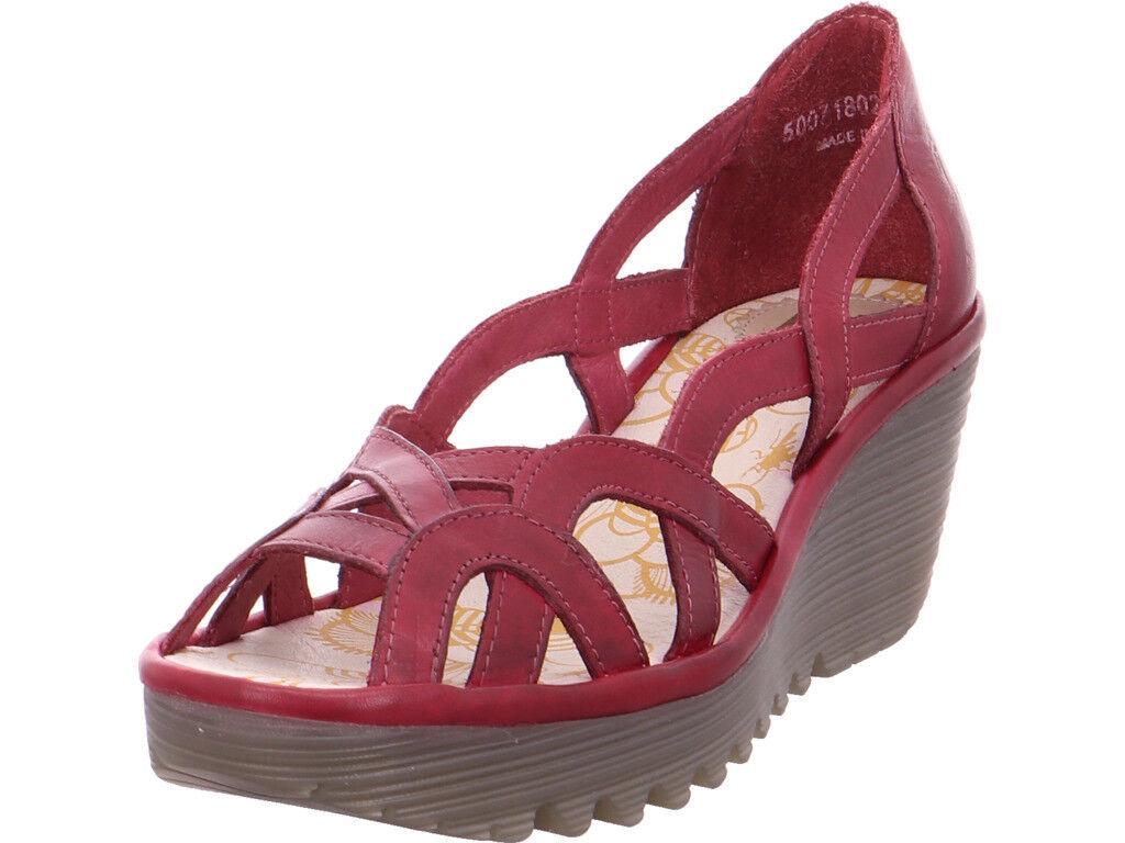 Fly London Damen  Sandale Sandalette rot