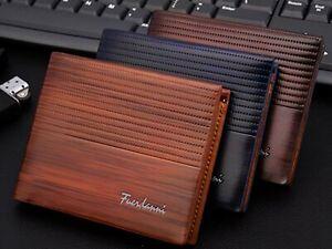 Fashion Men/'s Bifold Leather Wallet ID Credit Card Holder Billfold Purse Clutch