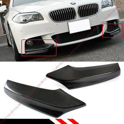 MCARCAR KIT Front Bumper Splitter fits BMW 5 Series F10 M5 Sedan 2011-2016 Factory Outlet Carbon Fiber CF Upper Spoiler Winglets Vents Cover Cupwings Flaps