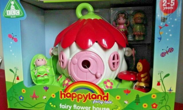 Early Learning Centre Happyland Fairy Flower House Playset Preschool Toy