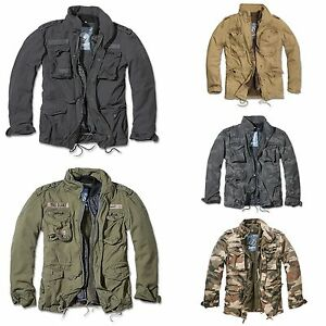 Brandit-M65-Giant-Feldjacke-Parka-US-Style-Jacke-mit-Futter-Armee-Army-NEU