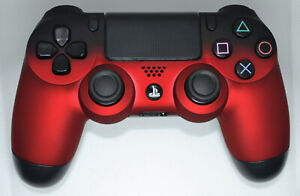 Custom-Soft-Touch-Fade-Red-Sony-Playstation-Dualshock-PS4-Wireless-Controller