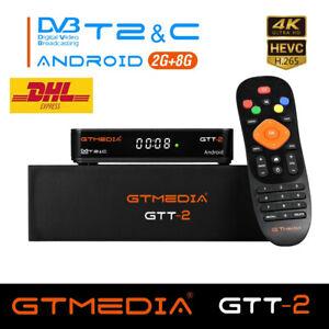 4K Decoder Terrestre Ricevitore Android TV Box DVB-T/T2HEVC 10bit MPEG-2/4,Wi-Fi