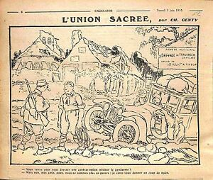 Caricature-Contravention-Vitesse-Gendarme-Poilus-Dessin-Charles-Genty-WWI-1916