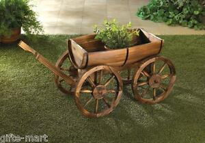 Superieur Image Is Loading WOOD Wine Whiskey BARREL Outdoor Wagon Flower Garden