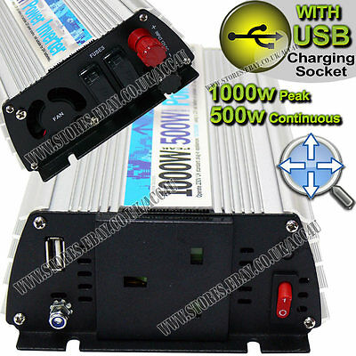 1000W PEAK WITH USB SWINV500 INVERTER 500W