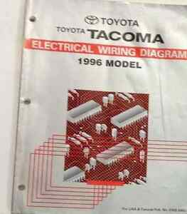1996 TOYOTA TACOMA Electrical Wiring Diagrams EWD Service Shop Repair Manual x