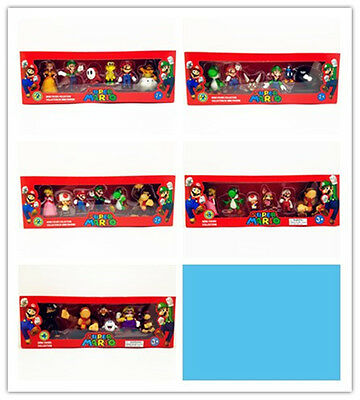 New Super Mario Mini Figures Super 6 Pack Collection PVC Toy A79V