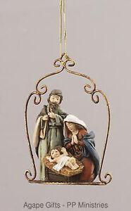 Youngu0027s Inc. Christmas Resin Nativity Holy Family Ornament #92431