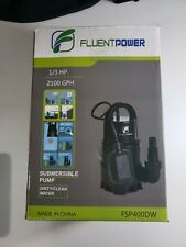 Fluentpower 13 Hp Electric Submersible Small Utility Drain Water Pump With
