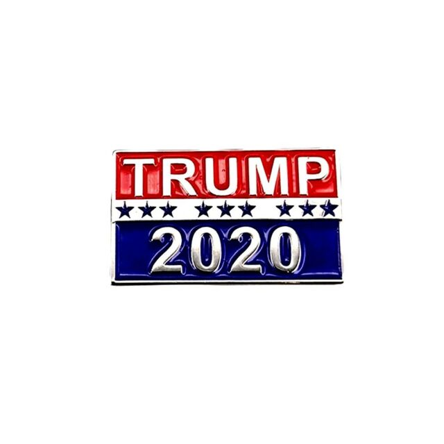Trump 2020 Pin, Republican Party Campaign Pin, Raised Lettering, Buy 4, Get 5!