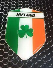 "Ireland Irish Proud Shield Flag Domed Decal Emblem Car Sticker 3D 2.3""x 3.3"""