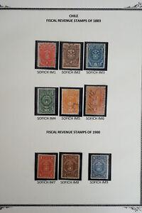 Chile-Fiscal-Revenue-Stamp-Lot