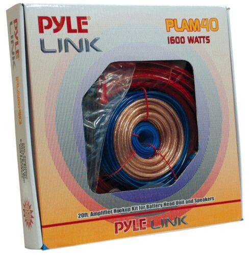 Pyle PLAM40 20FT 4 Gauge 1600W Amp Hookup For Battery /& Speaker Install Kit