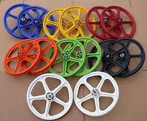 Skyway-20-034-TUFF-II-Wheelset-BMX-Bike-Mag-Wheels-Sealed-Bearings-NEW-amp-BOXED-PAIR