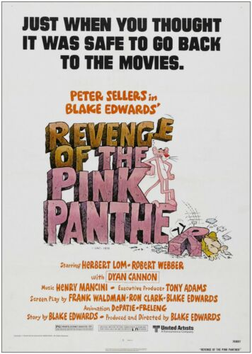 Revenge Of The Pink Panther Classic Movie Poster Art Print A0 A1 A2 A3 A4 Maxi