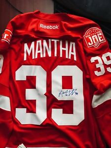 Image is loading Detroit-Red-Wings-Anthony-Mantha-Autographed-Signed-NHL- 99eb00aff