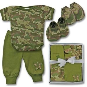 New-5-PIECE-NEWBORN-GIFT-SET-CAMOUFLAGE-Perfect-Baby-Gift