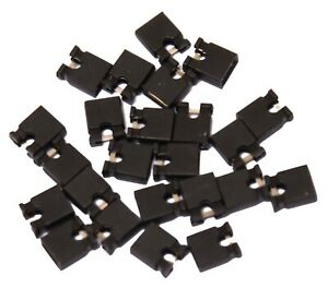 25x 2.54mm Black Jumper Shunts Bridges Hard Drive DVD Motherboards Electronics