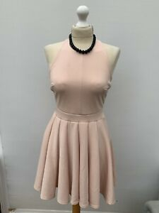 Women's Size 10 💕 Pretty Pink Boohoo Sleeveless Fit And Flair Cocktail Dress