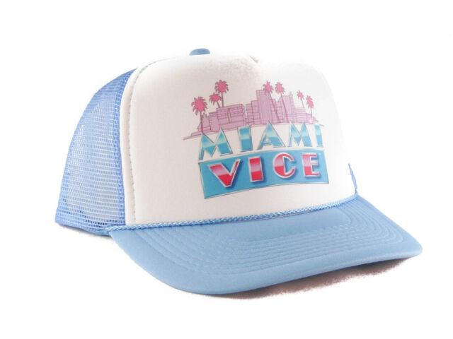 Vintage Miami Vice Trucker Hat Mesh Hat Snapback Hat Baby Blue  b3c2ed2a6ea