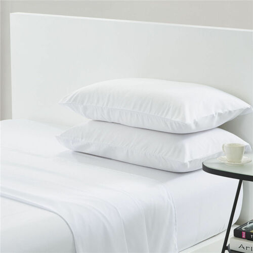 1000 Thread Count Egyptian Cotton All Sizes Duvet Cover Set White Solid Color