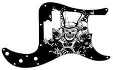 P Bass Precision Pickguard Custom Fender 13 Hole Guitar Pick Guard Top Hat Skull