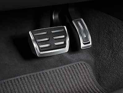 NEW GENUINE AUDI Q3 AUTOMATIC STAINLESS STEEL SPORTS PEDAL COVERS SET